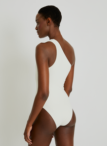 Geometric One Shoulder Maillot 924 Off White Lenny Niemeyer V21