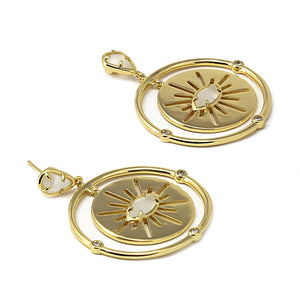 Earrings Cat EyeStone BPE313 - Fio d'Água Shop Online