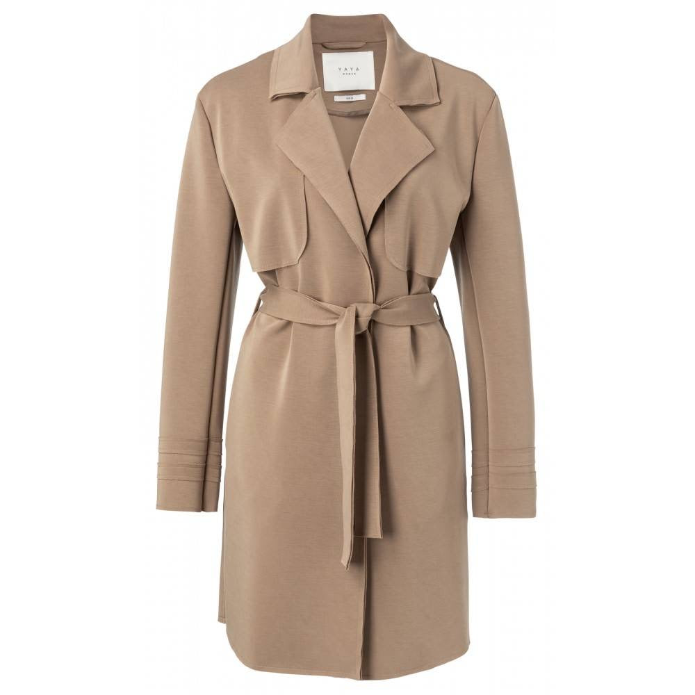Jersey Trench Coat 99202 - Fio d'Água Shop Online