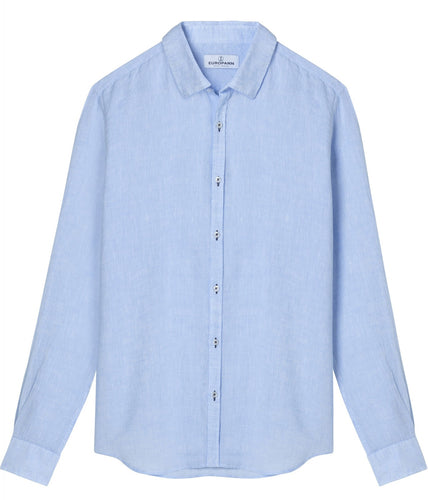 Jonas Sky Blue - Plain Linen Shirt