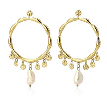 Load image into Gallery viewer, Pearl Hoops BPE230 - Fio d'Água Shop Online