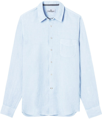 Diva Light Blue - Plain Linen Shirt Fitted Cut