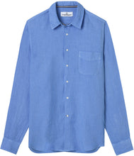 Load image into Gallery viewer, Diva Ocean Blue - Plain Linen Shirt Fitted Cut