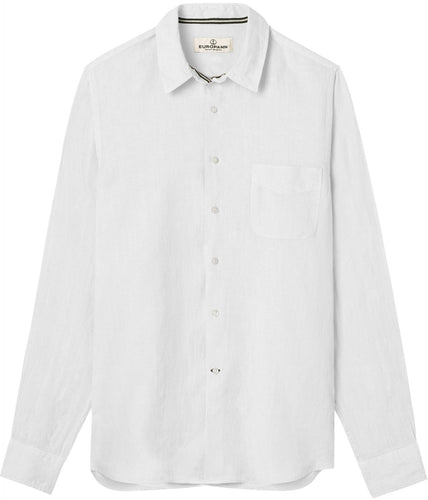 Diva White - Plain Linen Shirt Fitted Cut