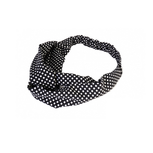 Head Band - Small White Polka Dots