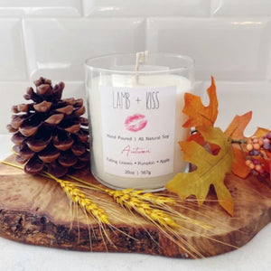 Hand Poured All Natural Soy Wax Candle - Autumn