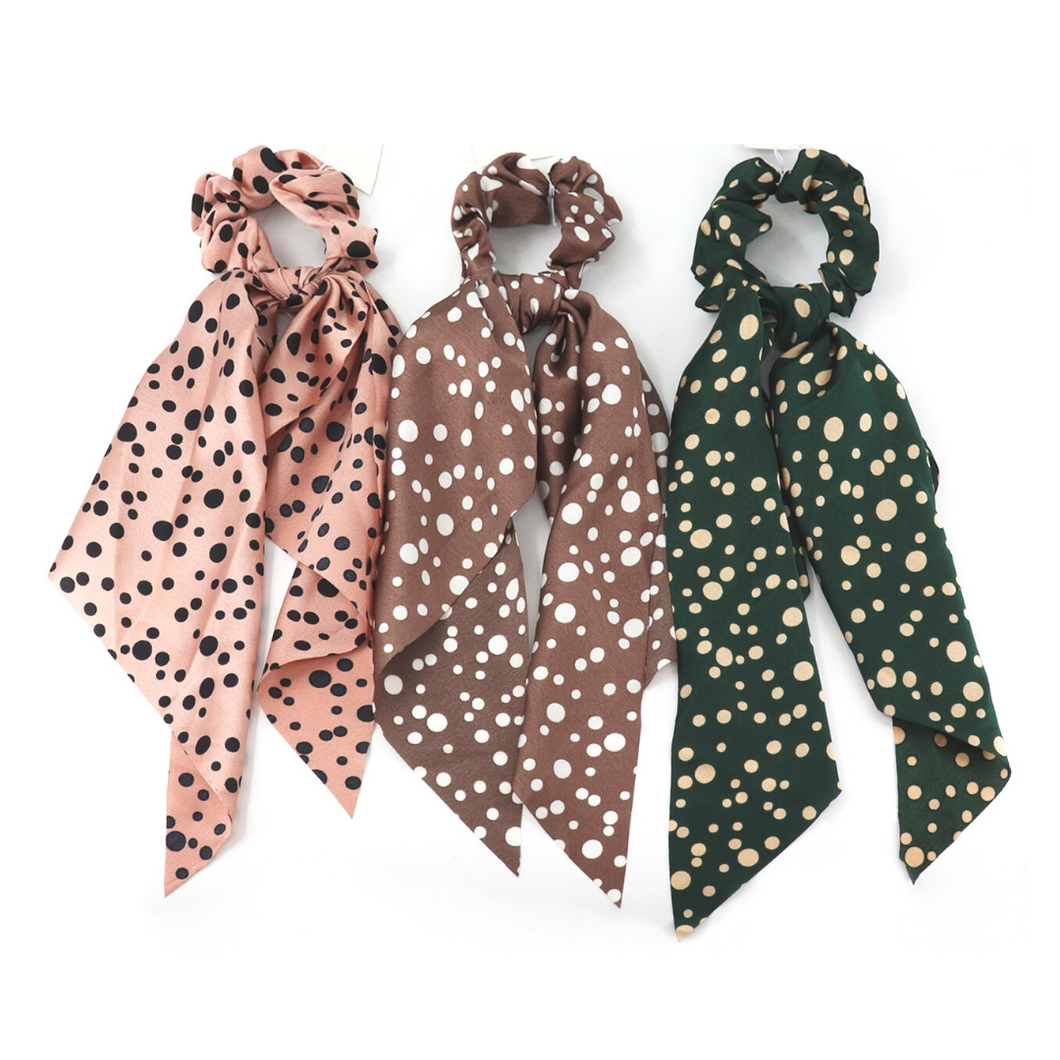 Vintage Inspired Polka Dots Hair Scrunchies
