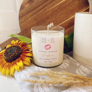 Hand Poured All Natural Soy Wax Candle - Sunflower