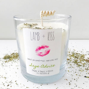 Hand Poured All Natural Soy Wax Candle - Sage Advice
