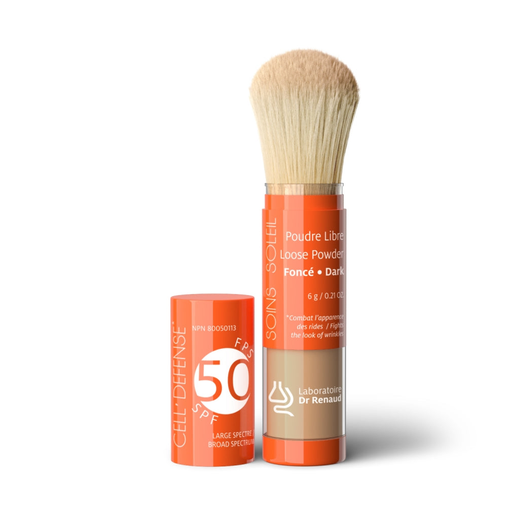 50 SPF Broad Spectrum Loose Powder -  Dark