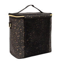 Load image into Gallery viewer, BLACK PAPER GOLD SPLATTER PETITE POCHE