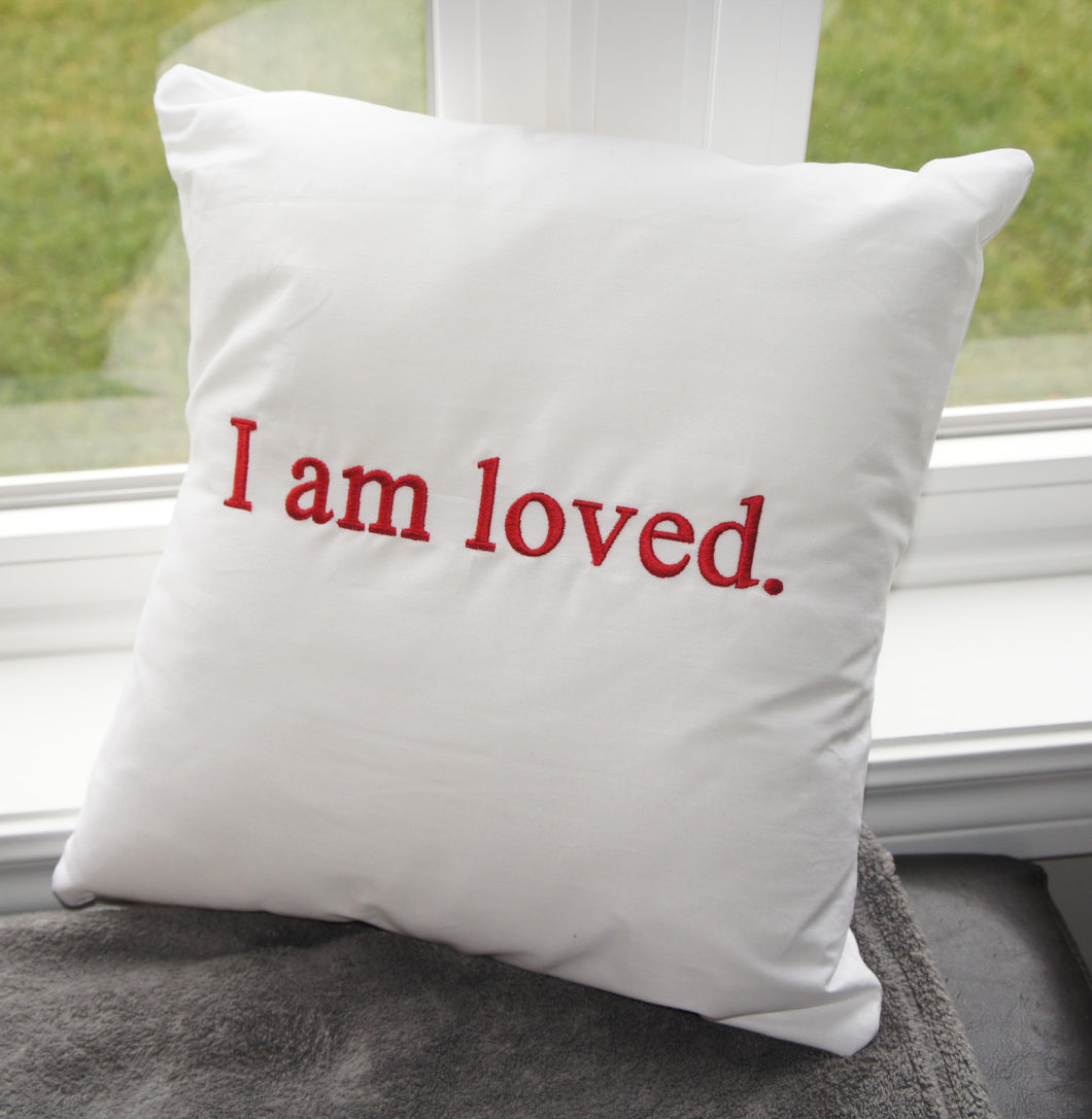 Empowerment Pillow embroidered with