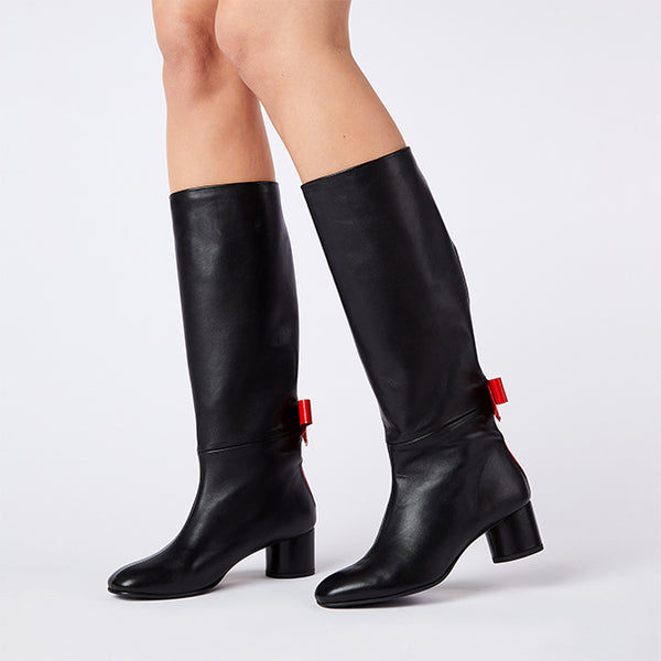 BOWIE BOOT black-red