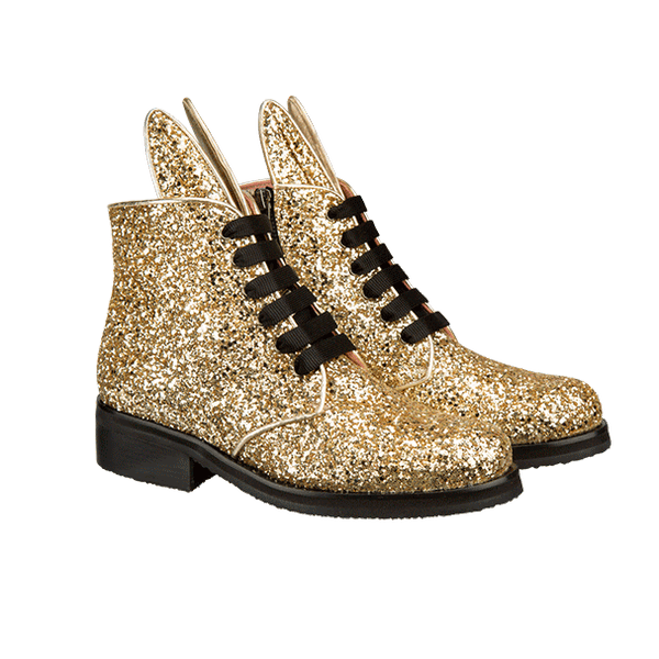 BUNNY BOOT champagne glitter