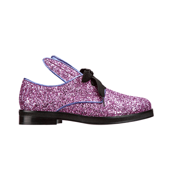 BUNNY LACE UP lilac glitter