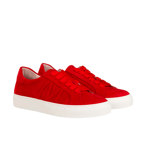 BUNNY SKATER red suede
