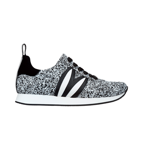 LD RUNNER black & white glitter