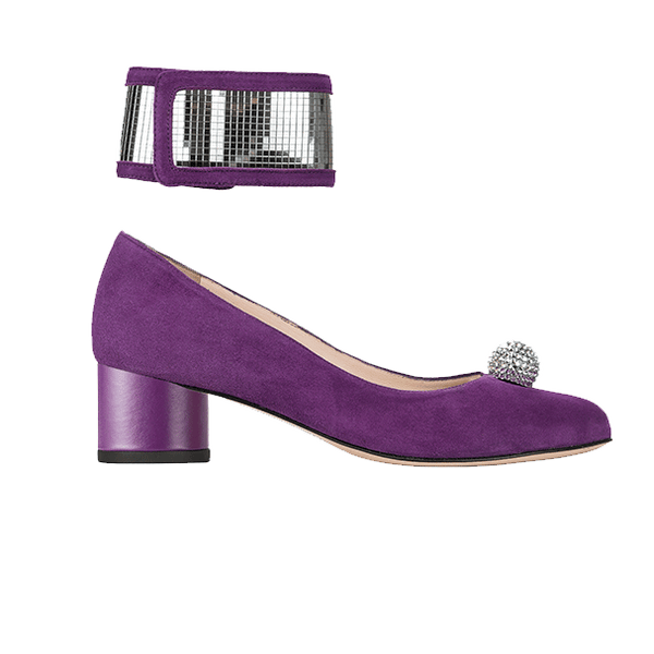 MOONLIGHT purple suede