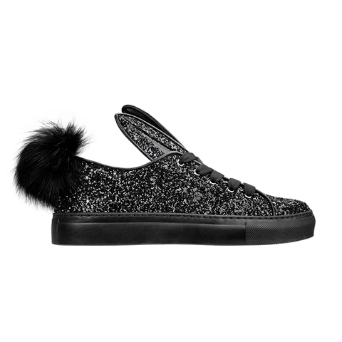 TAIL SNEAKS black glitter