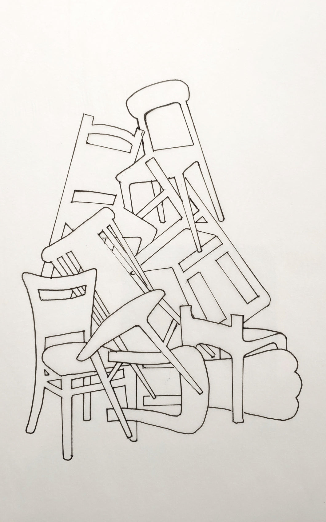Study #2: Stacked Chairs Composition