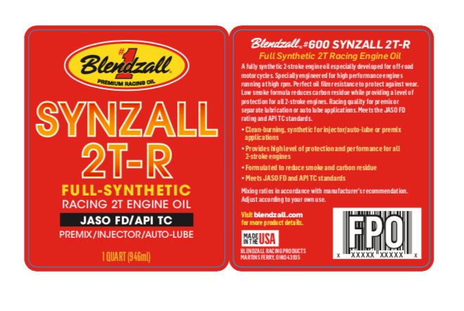 COMING SOON - #600 Blendzall 2T-R