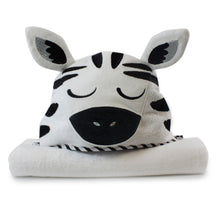 Load image into Gallery viewer, Zebra Hooded Towel