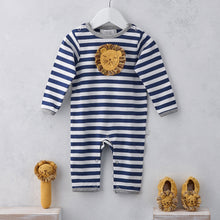 Load image into Gallery viewer, Albetta Baby Lion Baby Grow Playset Play Set Babygrow Cotton GOTS Certified Handmade