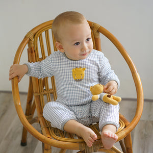 Albetta Baby Giraffe Baby Grow Playset Play Set Babygrow Cotton GOTS Certified Handmade