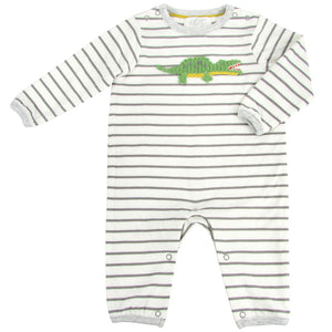 Albetta Baby Crocodile Baby Grow Playset Play Set Babygrow Cotton GOTS Certified Handmade