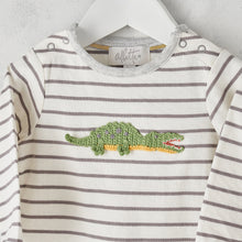 Load image into Gallery viewer, Albetta Baby Crocodile Baby Grow Playset Play Set Babygrow Cotton GOTS Certified Handmade