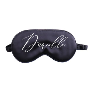 "Personalized ""Cheeky"" Sleep Mask made of satin"