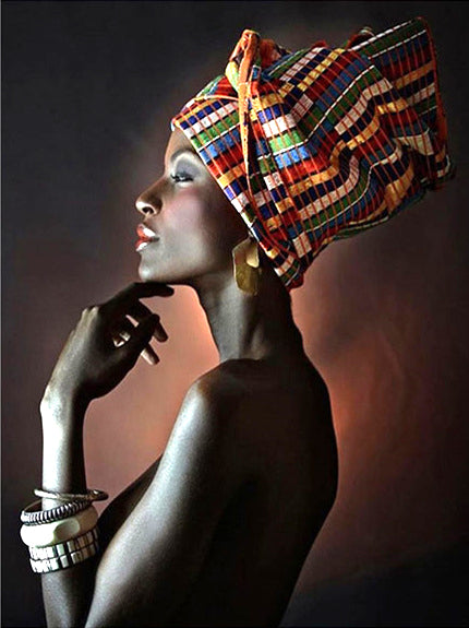 African women in traditional fashion portraits - 3D Diamond Painting