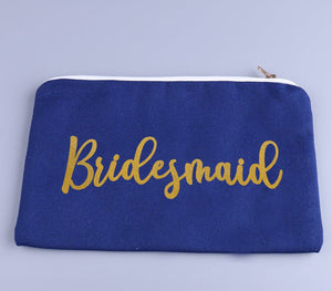 "Customizable ""Angel"" Make-up Bag - Solid or Glitter text"