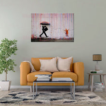 Load image into Gallery viewer, Coloured Rain by Banksy - Professional print on linen canvas
