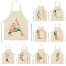 Load image into Gallery viewer, Custom letters Apron with vintage floral details