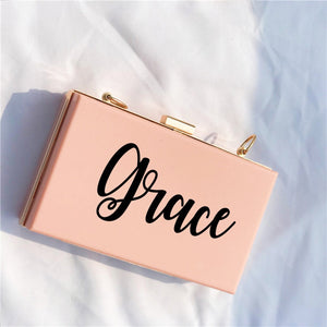 "Personalized ""Honest"" Shoulder Bag made of acrylic for weddings and special occasions"