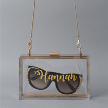 "Load image into Gallery viewer, Personalized ""Honest"" Shoulder Bag made of acrylic for weddings and special occasions"