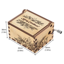 Load image into Gallery viewer, Personalized Wooden Music Box | Christmas Gift | Handcrafted with Floral Engravings and Customizable for Every Occasion