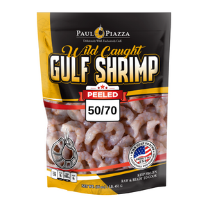 Premium Wild-Caught Gulf Shrimp Peeled & Undeveined 50/70