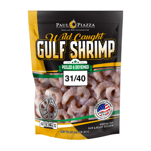 Premium Wild-Caught Gulf Shrimp Peeled & Deveined 31/40