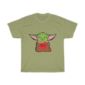 Baby Yoda Love Unisex Heavy Cotton Tee