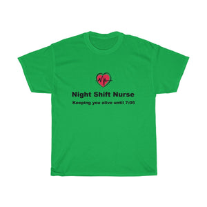 Night Shift Nurse Unisex Heavy Cotton Tee