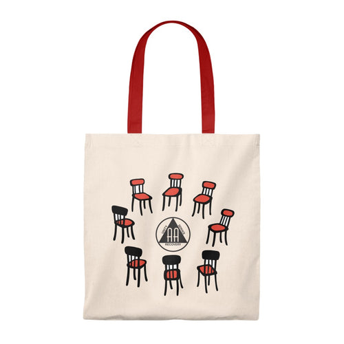 AA Meetings Tote Bag - Vintage