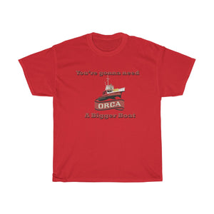 Jaws Bigger Boat Orca - Unisex Heavy Cotton Tee