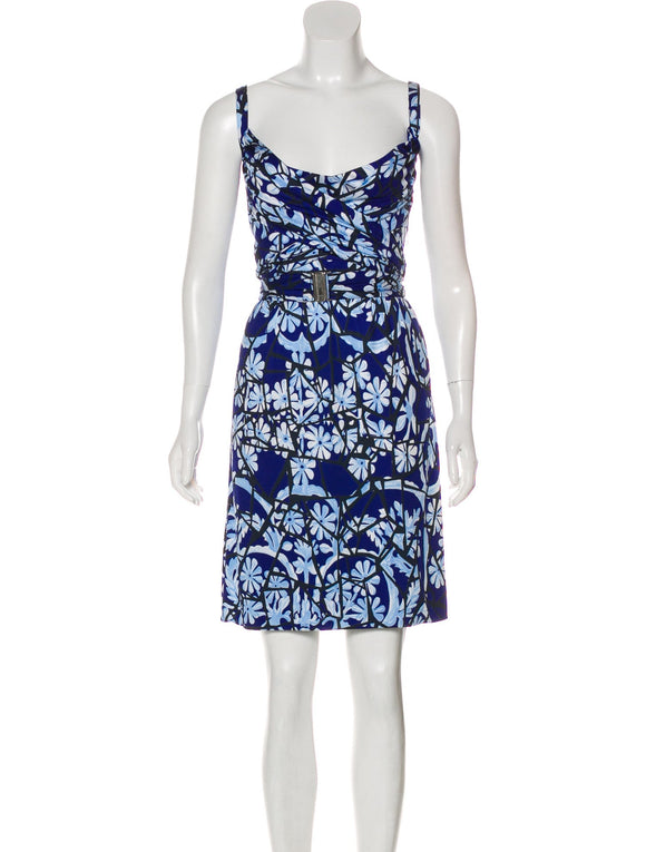 Gucci Blue Print Logo Dress Size 8-10