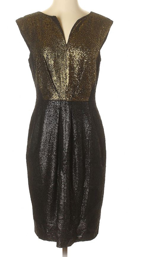 Escada Gold and Black Dress Size 6-8