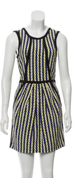 Gucci Blue Yellow and Black Dress Size 4-6