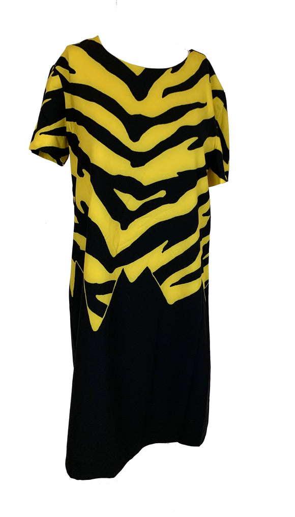 Moschino Yellow and Black Dress Size 8-10