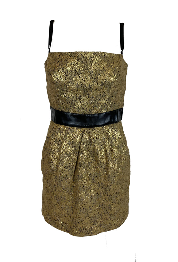 Dolce and Gabbana Gold and Black Dress Size 8