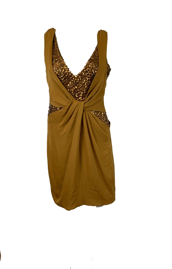 Gucci Gold Embellished Dress Size 0-2